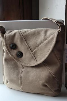 Upcycled Mens Suitcoat Messenger Bag by Le... | Sewing Ideas
