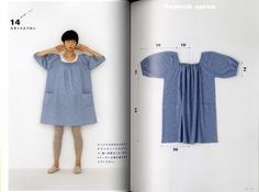 Yoshiko Tsukiori's Straight Stitch Apron and Apron Dresses - Japanese Craft Book Japanese Sewing Patterns, Sewing Patterns Girls, Clothing Patterns, Shirt Patterns, Doll Dress Patterns, Dress Making Patterns, Plus Size Sewing, Sewing Aprons, Apron Dress