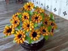 Flores hechas con cáscaras de pistacho