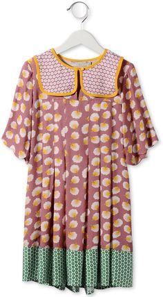 Midnight Heather Pom Pom print dress