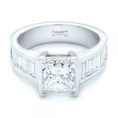 Custom Princess Cut Diamond Engagement Ring #102536