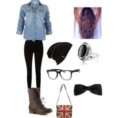 Hipster Outfit - Polyvore i like the ring and the bag the most