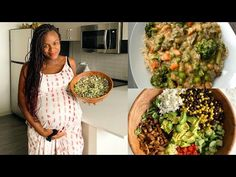 What I Eat in a Day | Pregnant mom [Easy & Healthy vegan meal ideas] - YouTube Veg Recipes, Organic Recipes, Cooking Recipes, Healthy Recipes, Raw Vegan, Vegan Vegetarian, Vegetarian Recipes, Vegan Meals, Organic Cooking