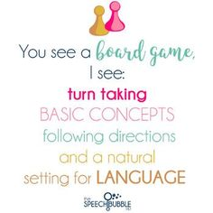 #quotes Make this year an awesome one in your speech therapy, special ed, occupational therapy or general ed classroom!  #boardgames #turntaking #followingdirections #naturallanguage #basicconcepts #poster #printable