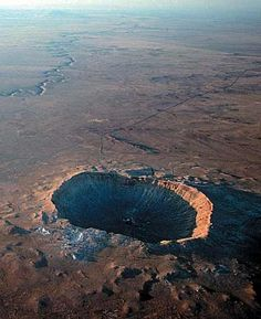Meteor Crater is a meteorite impact crater approximately 37 miles east of Flagstaff and 18 miles west of Winslow in the northern Arizona desert of the United States.