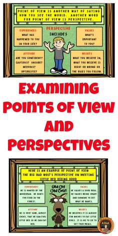 Examining a character's point of view is easy with these graphic organizers! Use them in conjunction with Gerald McDermott's Coyote, Arrow to the Sun and Raven stories. Generic organizers also included so you can examine perspectives of any characters and story! Come check it out!