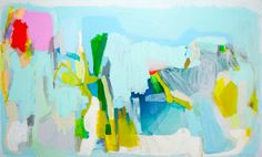 """""""New Lease"""" by Claire Desjardins. 36""""x60"""", acrylics on canvas."""