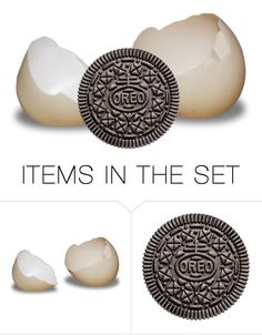 """For a contest: Oreo with one other item"" by juliehalloran ❤ liked on Polyvore featuring art and oreocontest"