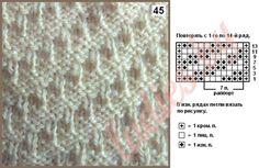 """Коллекция узоров с рельефными полосами спицами Узор 45 """"Структурная диагональ"""" (на 7 петель и 14 рядов)"""
