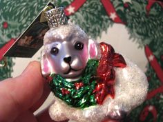 Merck Family Old World Christmas 'The Little Lamb' retired blown glass ornament ... in my shop now!