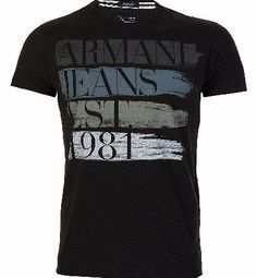Armani Jeans All Over Paint T-Shirt Black Armani Jeans All Over Paint T-Shirt Black features short sleeves with crew neck design and branded tab sewn onto the side hem. Colour: Black Fabric: 100% Cotton Care: Max Wash 30 Degrees http://www.comparestoreprices.co.uk/t-shirts/armani-jeans-all-over-paint-t-shirt-black.asp