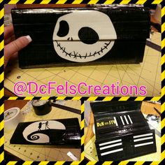Nightmare before Christmas women's wallet clutch w/ ziplock. Jack's head(front) and Jack and Sally(back) is glow in the dark.