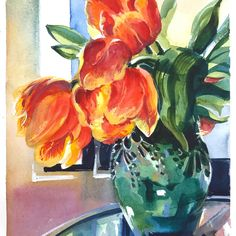 Last chance to register for my White and Bright Flowers class! Registration closes today at noon CDT. We will talk about my easy technique of painting fabulous flowers (like these tulips) with a combination of watercolor and gouache. Hurry up to watercolorhouston.org/virtual classes or click the link in my bio and go to LIVE CLASSES. Hope to see you in class! @watercolorhouston