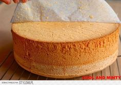 a perfect sponge cake, always successful Polish Desserts, Polish Recipes, Bakery Recipes, Cooking Recipes, Sandwich Cake, Different Cakes, Pumpkin Cheesecake, Sweet Cakes, Savoury Cake