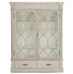 Grace French Country Weathered Wood 2 Door Display Cabinet