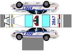 rally cars paper models | Carros de Polícia: Corte e Cole