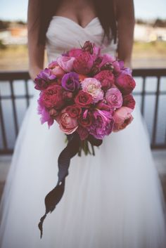 Beautiful Bouquet -  See this California Art Studio Wedding on IW - intimateweddings.com