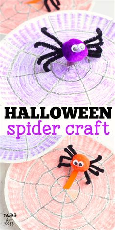 This adorable Spider Craft for Kids is perfect for Halloween. I love how it is a craft that kids can play with as they move the spider around on his web! Halloween Activities For Kids, Halloween Crafts For Kids, Crafts For Kids To Make, Fall Crafts, Halloween Fun, Kids Crafts, Classroom Activities, Preschool Activities, Spider Crafts