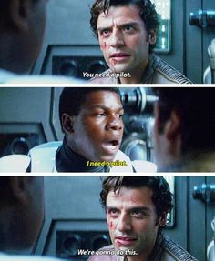 finn, poe dameron, and stormpilot image