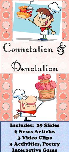 This Poster Clearly Shows The Different Between Connotation And