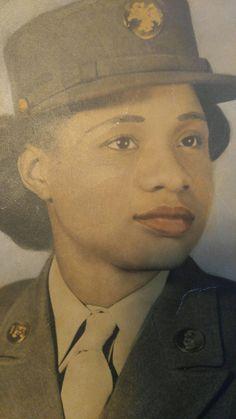 d276e631248 PFC Marcella Lee Canty (Ghiden). Reginald Ghiden · 6888 Postal Battalion  WWII