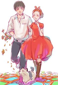 Arrietty and Shawn (Sho)