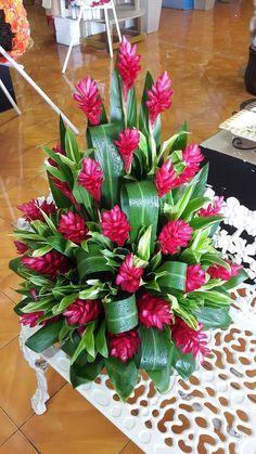 simple tropical flower arrangements wedding centrepieces - Google Search
