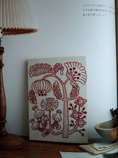 12-Month Embroidery by Yumiko Higuchi Japanese door MotokoThreads