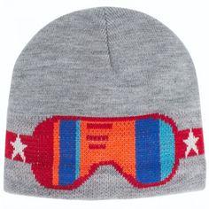 Molo Grey Goggle Knit Beanie