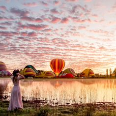 """""""Early Morning Majestic  ------------------------------------------- There is nothing more majestic than a hot air balloon starting it's slow assent into…"""""""