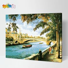 Frameless paint by number kits 40 50cm Digital oil painting diy lovers acrylic painting home decor-inPainting & Calligraphy from Home & Garden on Aliexpress.com | Alibaba Group