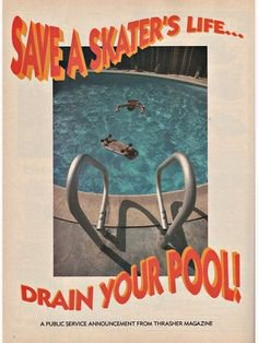 "Retro Wallpaper Discover Save A Skaters Life. Drain Your Pool - Thrasher Magazine Poster by aliyahwood ""Save A Skaters Life. Drain Your Pool - Thrasher Magazine"" Poster by aliyahwood Collage Mural, Photo Wall Collage, Picture Wall, Art Collages, Thrasher Magazine, Aesthetic Vintage, 70s Aesthetic, Aesthetic Bedroom, Aesthetic Design"