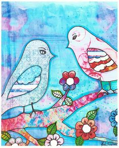 """via """"2 In Love""""..A mixed Media """"Artist Proof"""" by Robin Mead"""