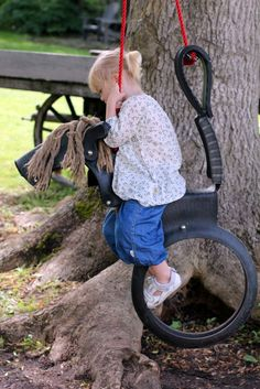 diy the magical swing horse from old car tires