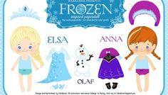 Muñequitas de Frozen para imprimir
