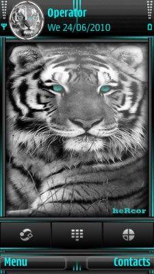 Tema SIS black tigre t hc para celular