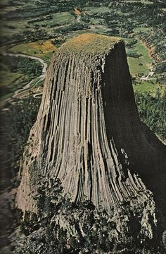 Devil's Tower, Wyoming. There are many Native American legends that associate a giant bear with this formation. If you watch Spielberg's Close Encounters, in which Devil's Tower plays a prominent role, you might notice that the alien ship first appears in the constellation the Ursa Major, the Great Bear. Coincidence? Maybe.