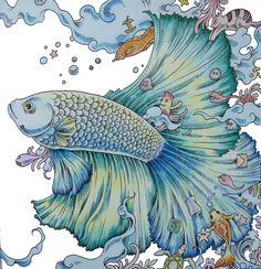 Uit het boek - From the book. Animorphia. Gekleurd door Adri. Colored by Adri