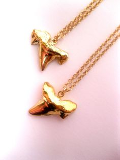 24k Gold Dipped Real Shark by FashionCrashJewelry