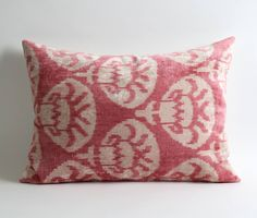 Carolina Irving's Paris Apartment, Take 2 - Katie Considers Boho Chic Interior, Interior Design, Ikat Pillows, Cushions, Paris Apartments, Pink Silk, Pale Pink, Unique Colors, Decoration