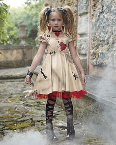 Buy Halloween Costume Girl's Women Cosplay Dress Voodoo Doll Costumes for Adults&Child Fancy Dress Ball at Wish - Shopping Made Fun Voodoo Doll Halloween Costume, Creepy Doll Costume, Scary Dolls, Voodoo Dolls, Halloween Costumes For Girls, Halloween Dress, Halloween Kids, Group Halloween, Voodoo Doll Makeup