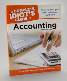 Take a look at this Idiots Guide to Accounting Paperback by Penguin Group (USA) on #zulily today!