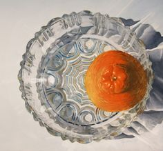 Honeybell in Bowl  -    Frank  Spino.        Watercolor