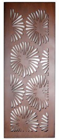 Flower Design Laser Cut Metal Art for Garden Wall