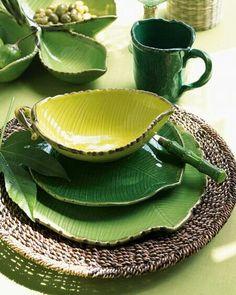 Leaf plate sets - nice