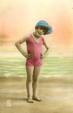 Vintage Postcard ~ Beach Babe | Flickr - Photo Sharing!