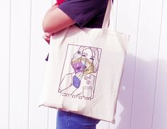 No Type Tote Bag || $15  by LASAGNART