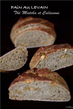 Pain au levain, thé matcha et Calissons Matcha, Sin Gluten, Pain Au Levain, Banana Bread, Desserts, Food, Spelt Flour, Bread Recipes, Deserts