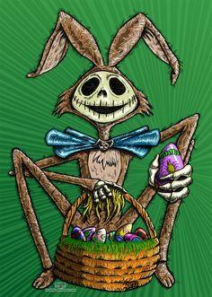 Jack Skellington Easter by *TCosbyJr on deviantART