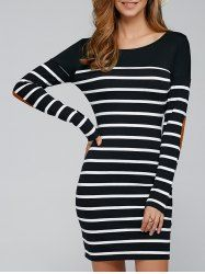 SHARE & Get it FREE | Elbow Patch Vertical Striped Sheath DressFor Fashion Lovers only:80,000+ Items • New Arrivals Daily • Affordable Casual to Chic for Every Occasion Join Sammydress: Get YOUR $50 NOW!